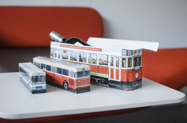 Truckbox Promotional Giftbox tram, bus