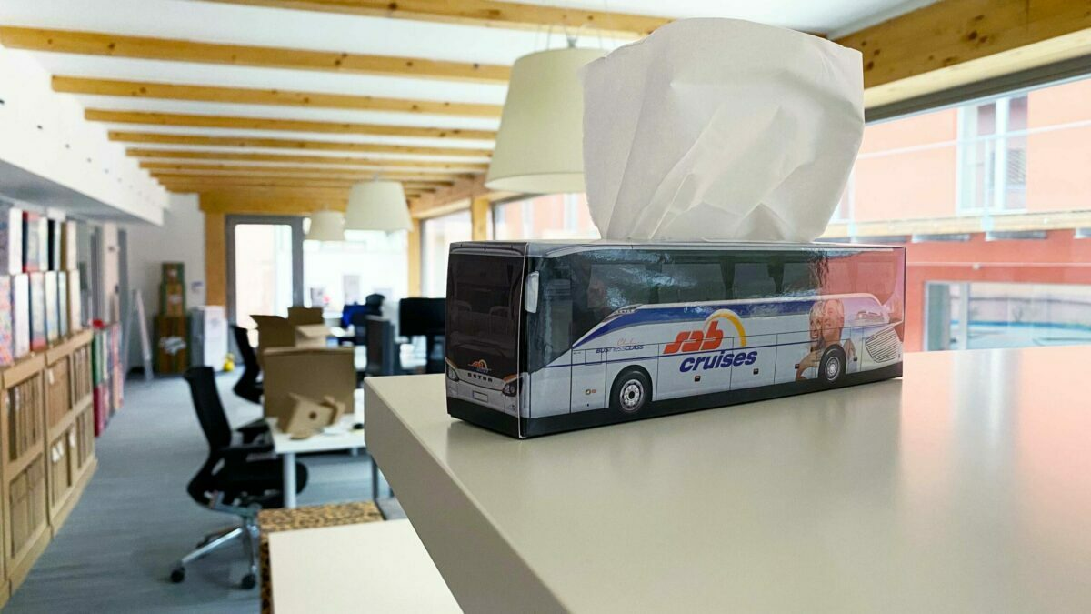 Truckbox Promotional Giftbox Bus Setra Travel Agency SAB Cruises