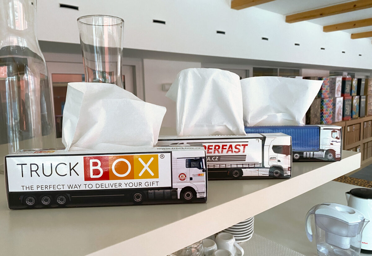 Truckbox Promotional Tissue boxes