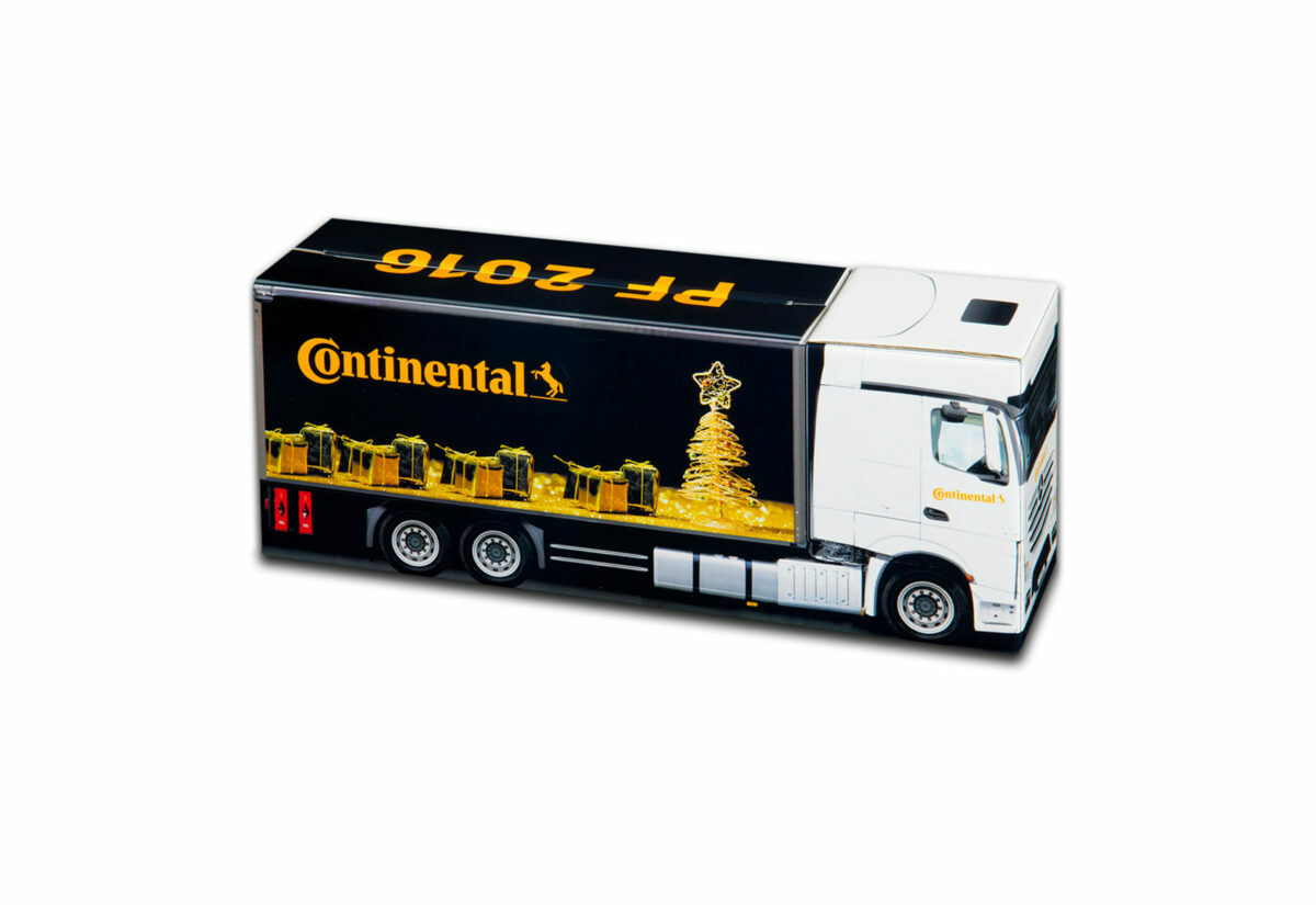 Truckbox Promotional Giftbox Truck superstructure, Mercedes Benz, Continental