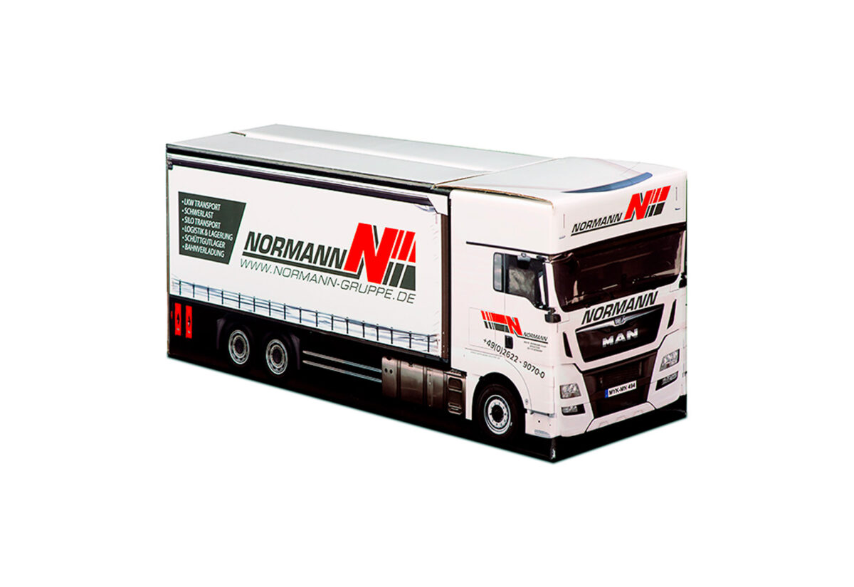 Truckbox Promotional Giftbox Truck superstructure, MAN, Normann Gruppe