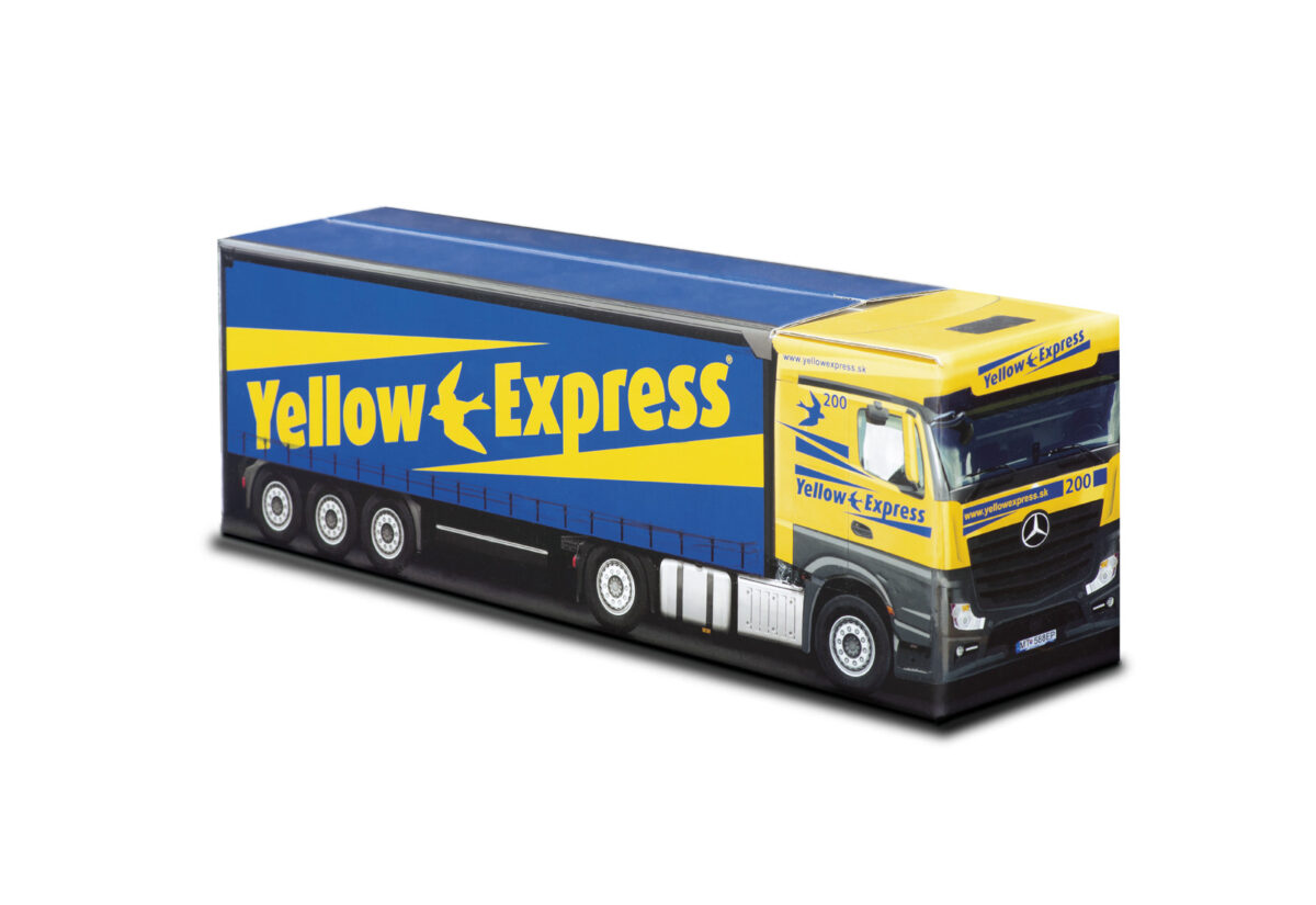 Truckbox Promotional Giftbox – Mercedes Benz Truck, Yellow Express