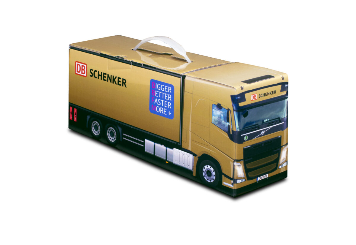 Truckbox Promotional Giftbox Truck superstructure, Mercedes Benz, DB Schenker