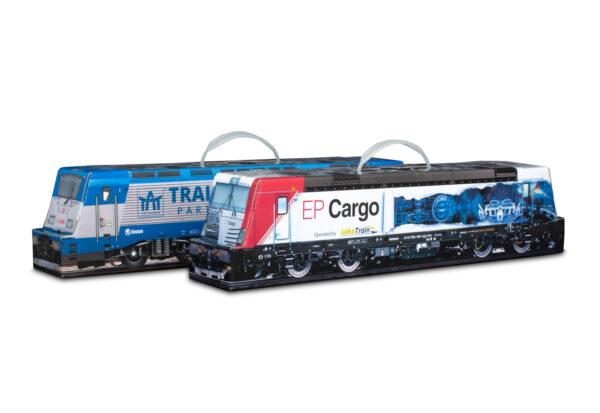 Truckbox Promotional Giftbox - locomotive, train, wine bottle