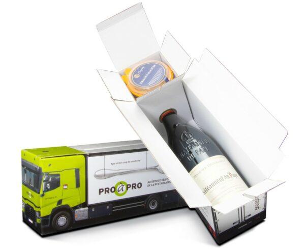 Truckbox Promotional Giftbox lorry wine bottle