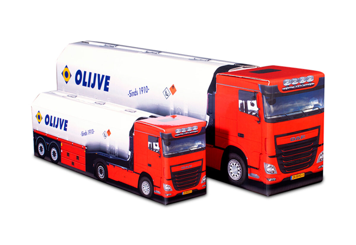 Truckbox Promotional Giftbox - Fuel Tank Truck DAF - Olijve