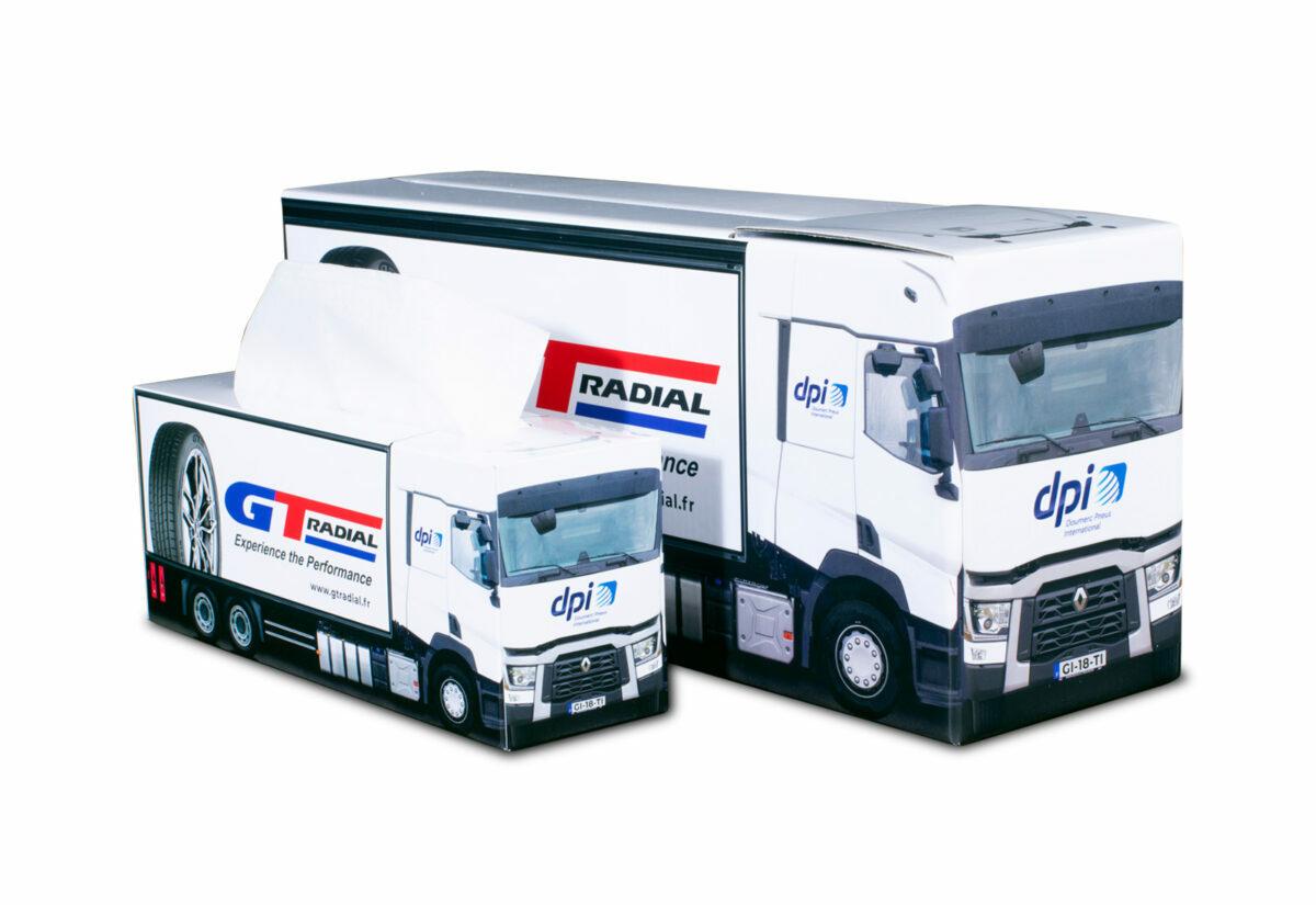 Truckbox Promotional Giftbox + Tissue box - Truck superstructure, Renault, DPI