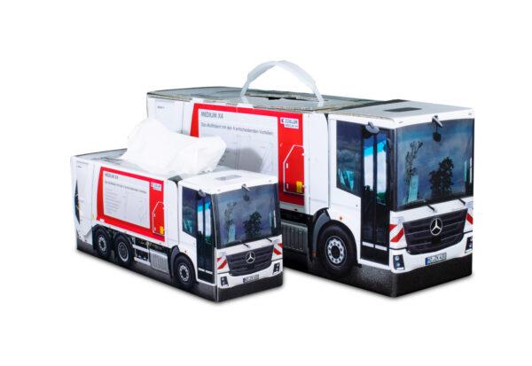 Truckbox Promotional Giftbox, tissuebox - garbage truck