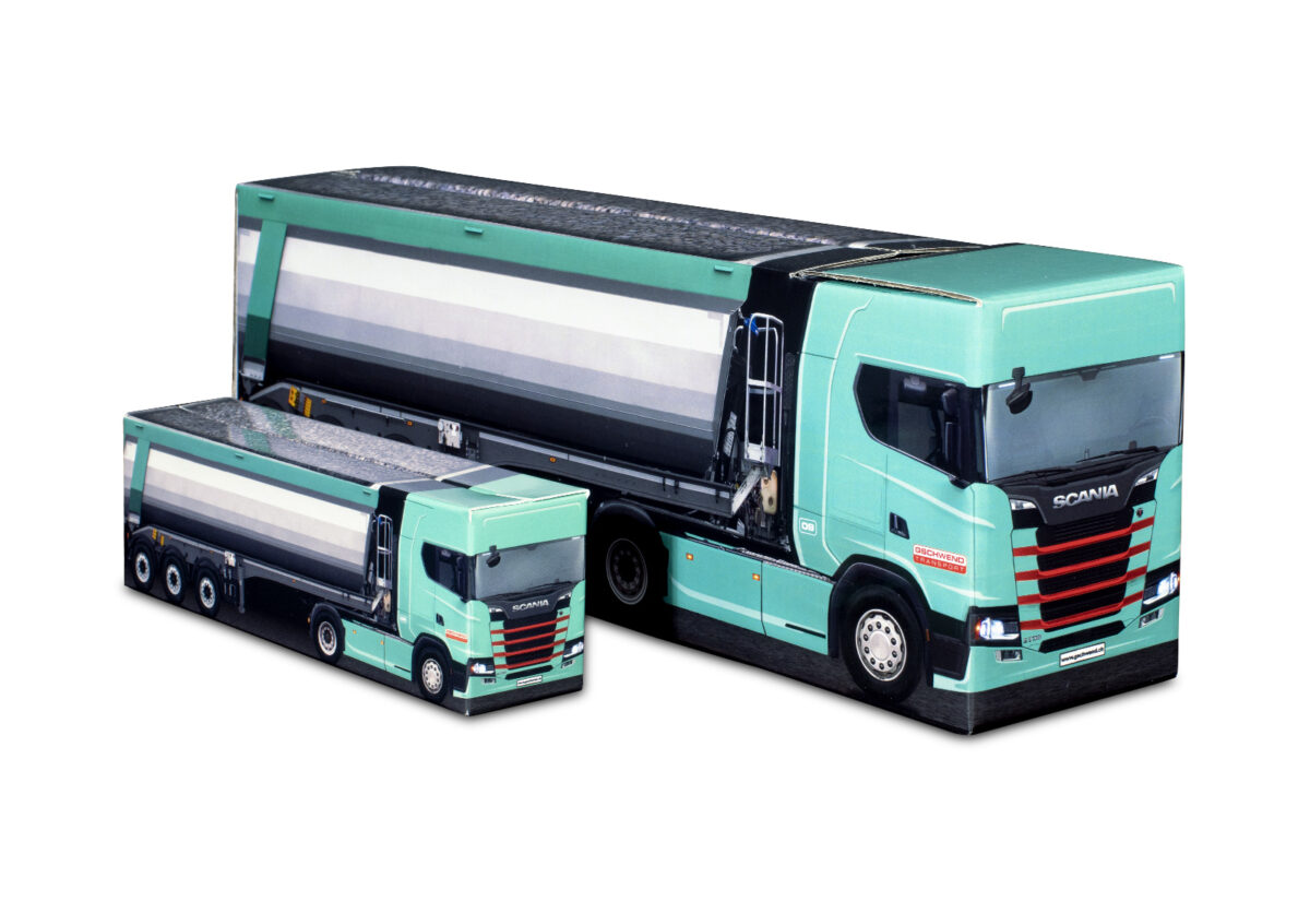 Truckbox Promotional Giftbox – Scania Truck with tipper semitrailer