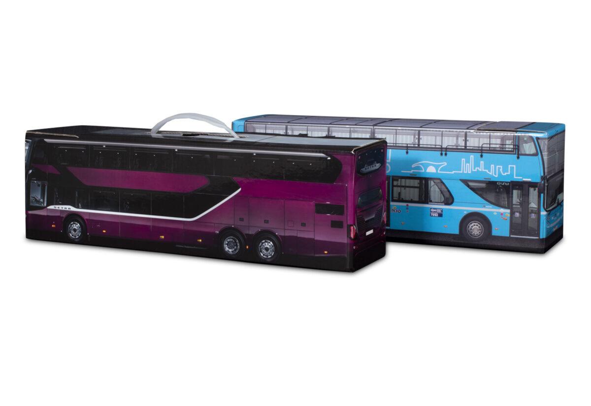 Truckbox Promotional Giftbox Bus Setra S 531 DT Double Decker & Scania Unvi Urbis Double Decker (Dopravní podnik Ostrava - DPO)