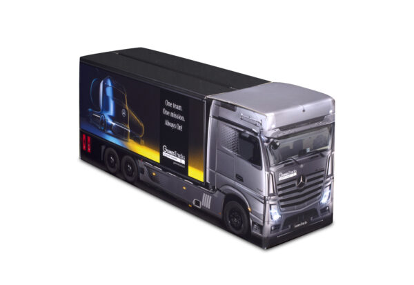Truckbox Promotional Giftbox Truck superstructure, Mercedes Benz