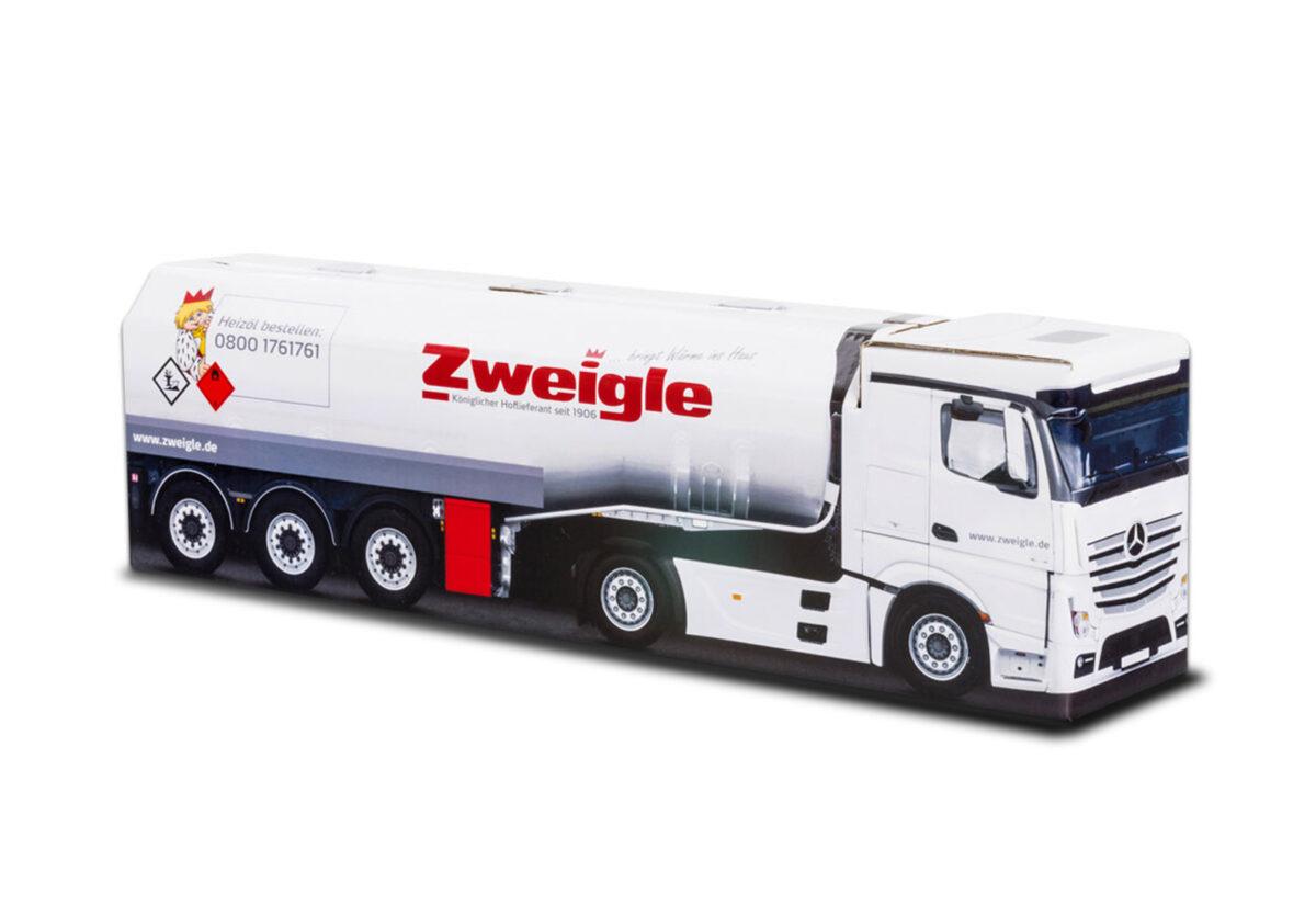 Truckbox Promotional Giftbox - Fuel Tank Truck Mercedes Benz - Zweigle