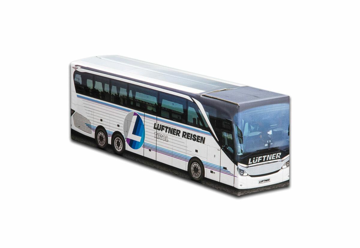 Truckbox Promotional Giftbox Bus Setra Travel Agency Lüftner Reisen Tirol