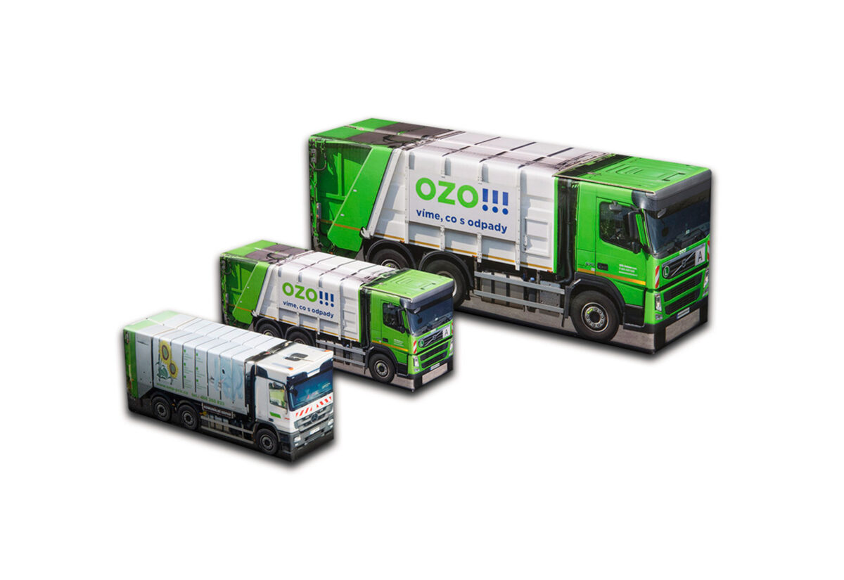 Truckbox Promotional Giftbox - size Plus, Midi, Mini - garbage trucks
