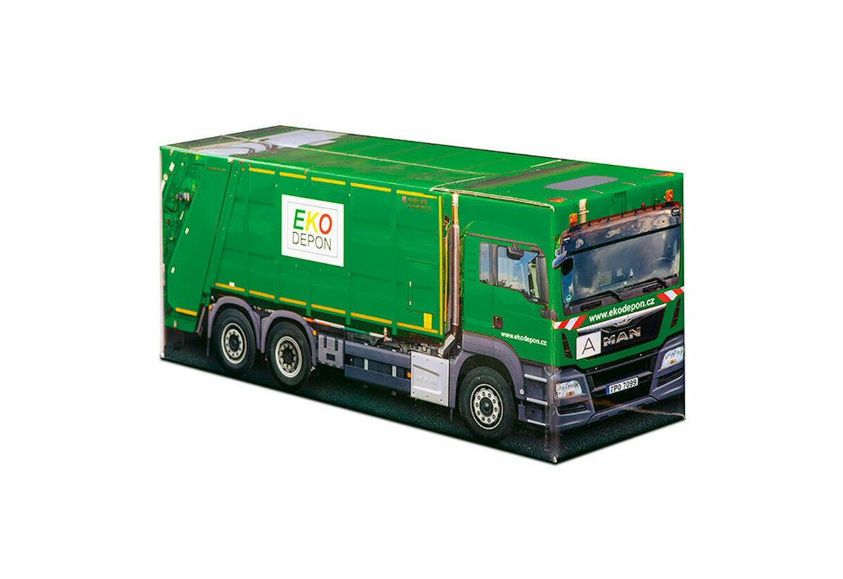 Truckbox Promotional Giftbox - garbage truck MAN - EKO DEPON -Zoeller
