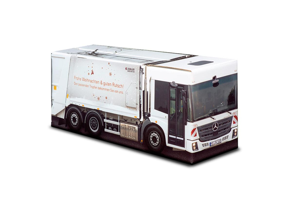 Truckbox Promotional Giftbox - garbage truck Mercedes Benz - Zoeller Medium X4