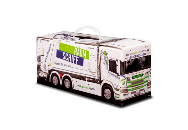 Truckbox Promotional Giftbox - Garbage truck Scania Buchegger