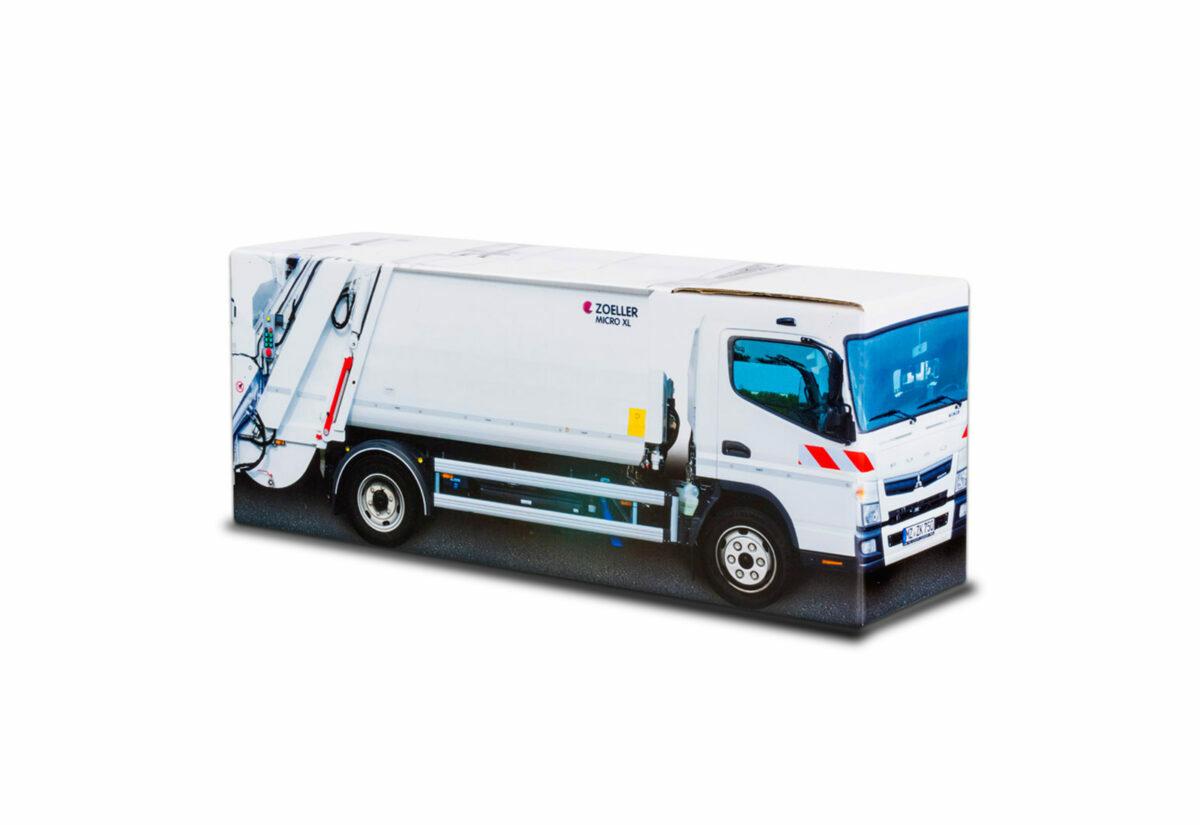 Truckbox Promotional Giftbox - garbage truck Mitsubishi Fuso Canter Zoeller Micro XL