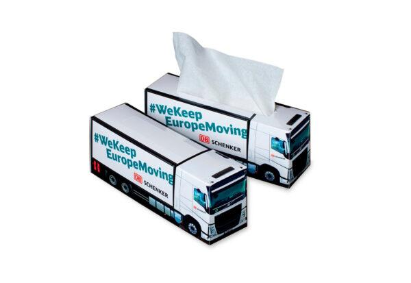 Truckbox Promotional Tissue box – Truck Volvo, DB Schenker