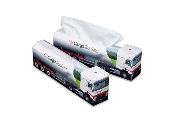 Truckbox Promotional Tissue box - Silo Truck