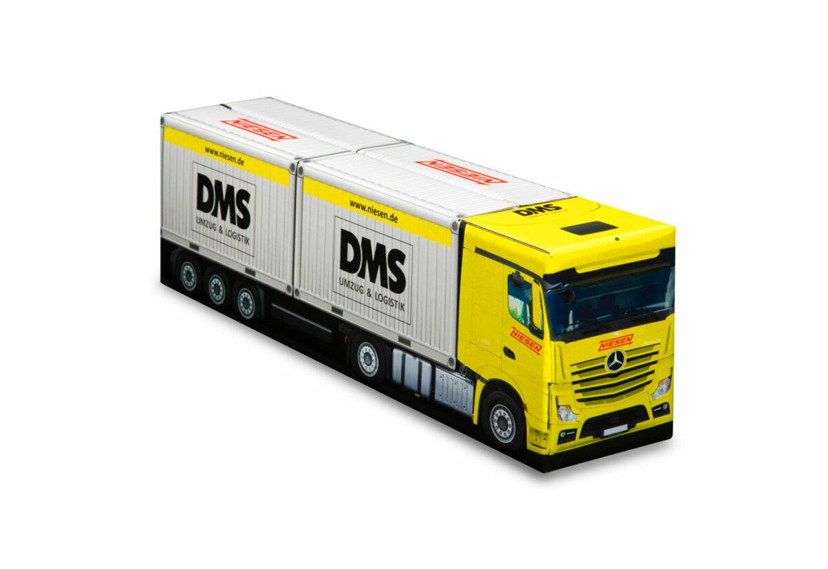 Truckbox Promotional Giftbox Truck with 2x container 20ft, Niesen DMS Umzug & Logistik