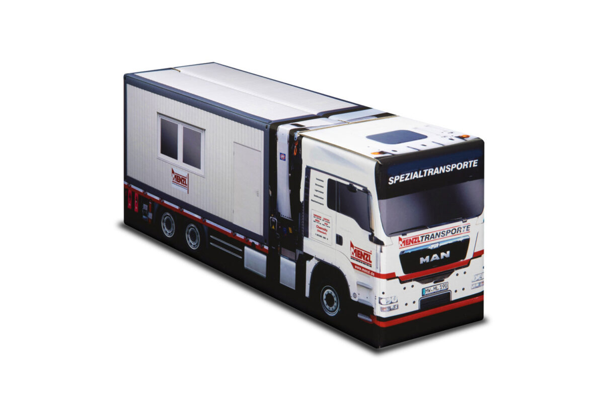 Truckbox Promotional Giftbox MAN + Living container 20ft, Menzl Transporte