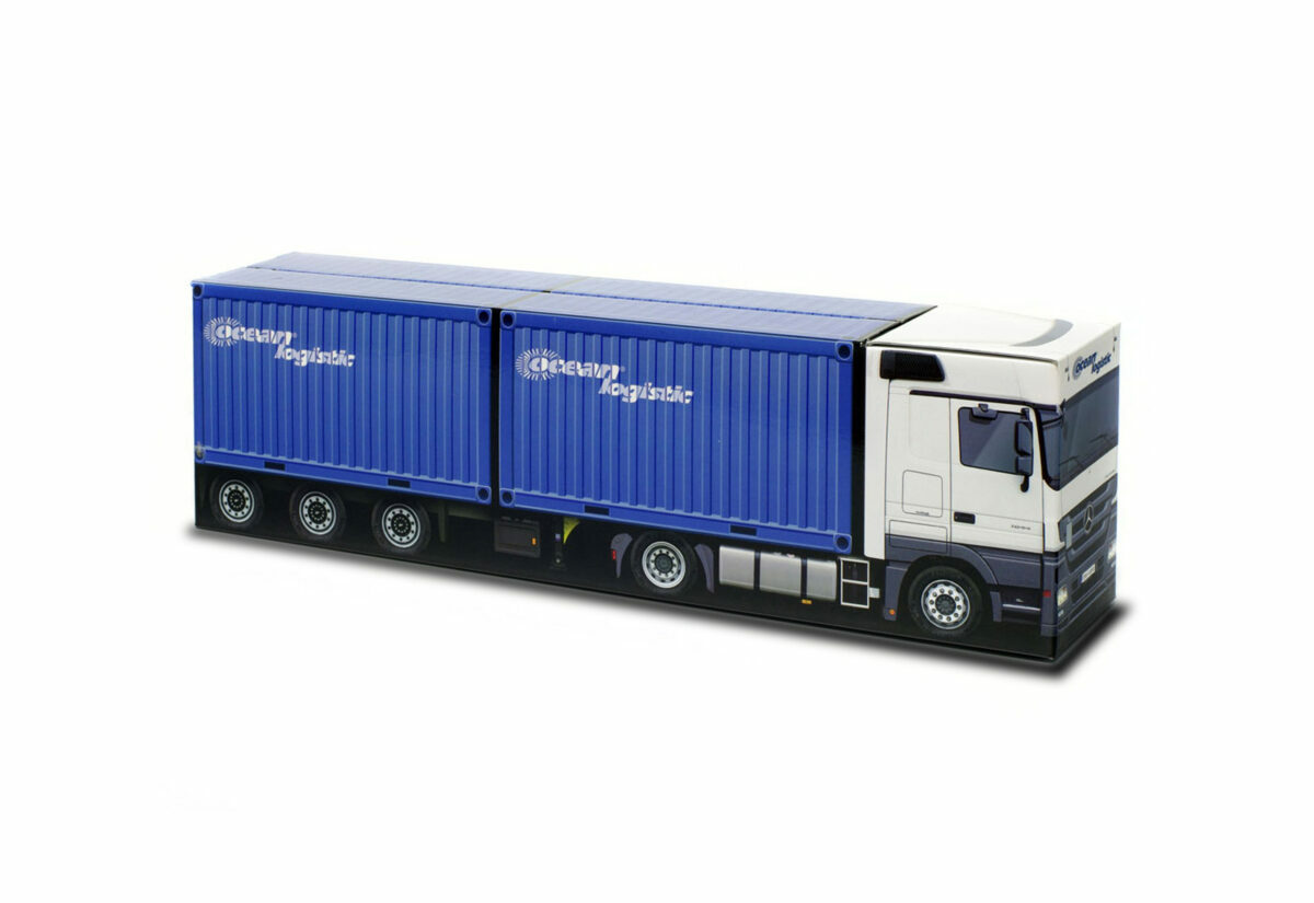 Truckbox Promotional Giftbox Mercedes + 2x Container 20ft, Ocean Logistic