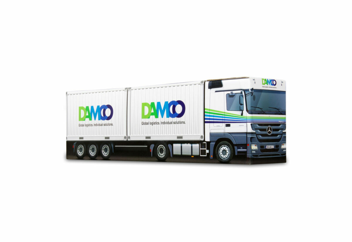 Truckbox Promotional Giftbox Mercedes + 2x Container 20ft, Damco