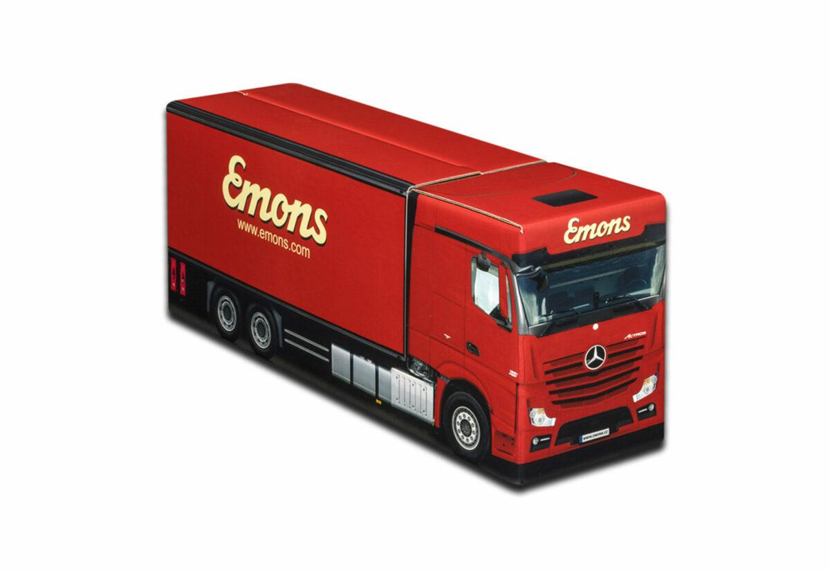 Truckbox Promotional Giftbox Truck superstructure, Mercedes Benz, Emons