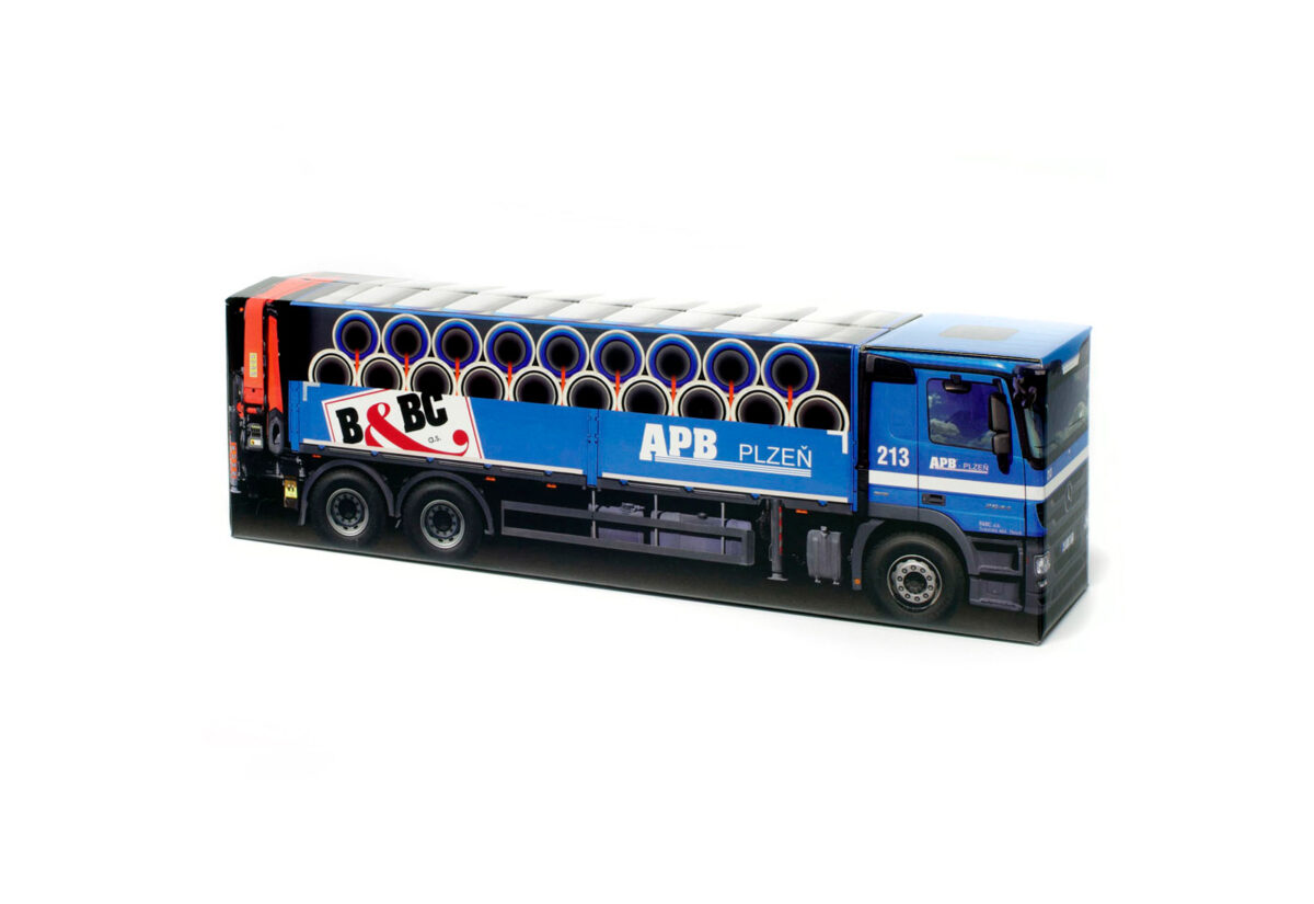 Truckbox Promotional Giftbox – Tipper Truck Mercedes Benz - APB