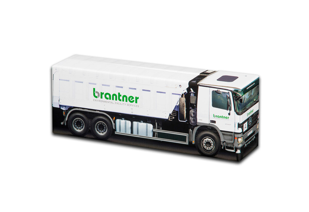 Truckbox Promotional Giftbox – Tipper Truck Mercedes Benz, Brantner