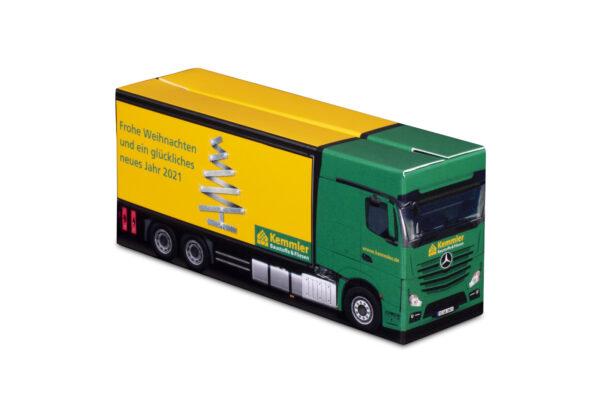 Truckbox Promotional Giftbox Truck superstructure, Mercedes Benz, Kemmler