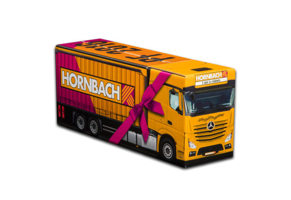 Truckbox Promotional Giftbox Truck superstructure, Mercedes Benz, Hornbach