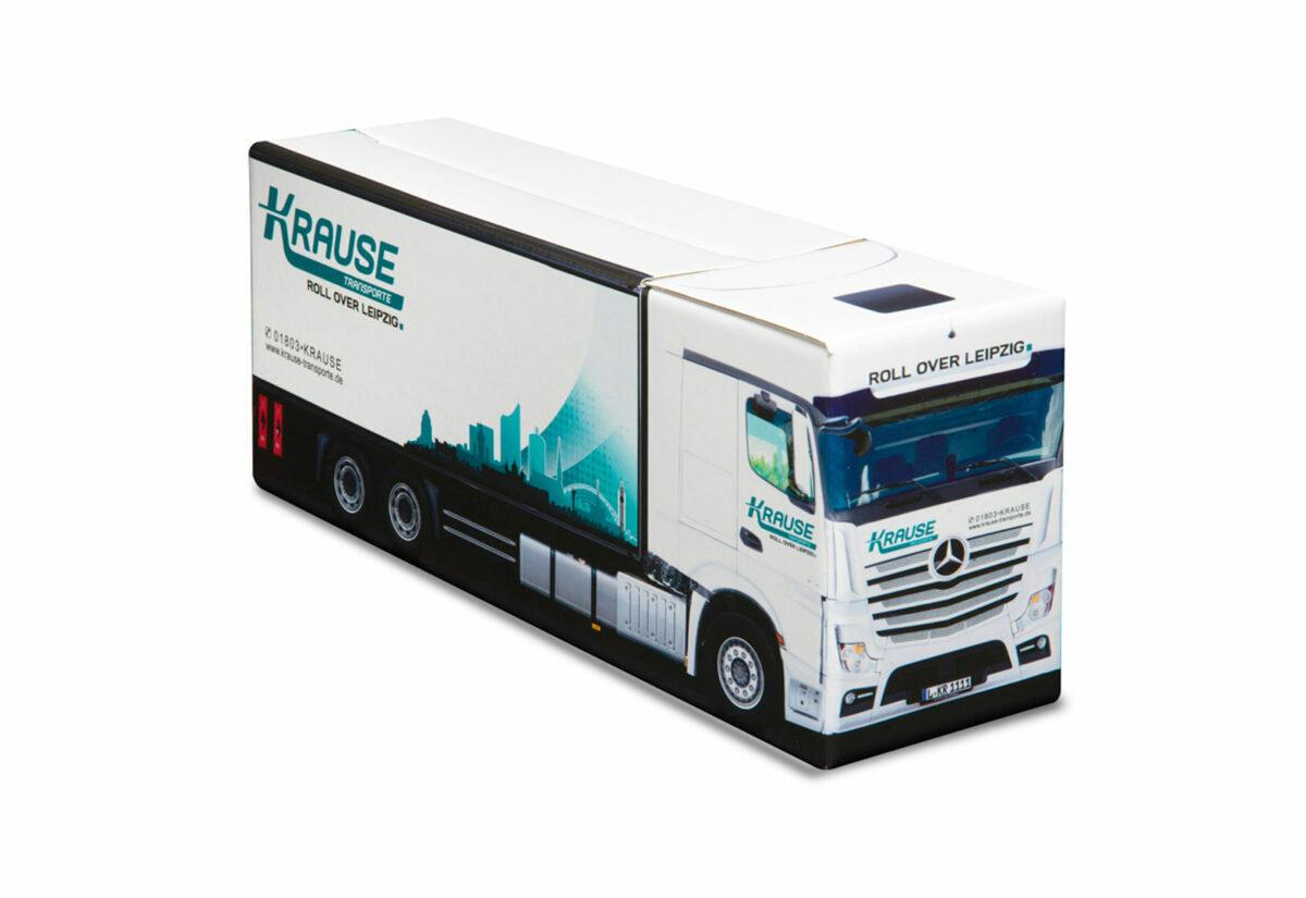 Truckbox Promotional Giftbox Truck superstructure, Mercedes Benz, Krause Transporte