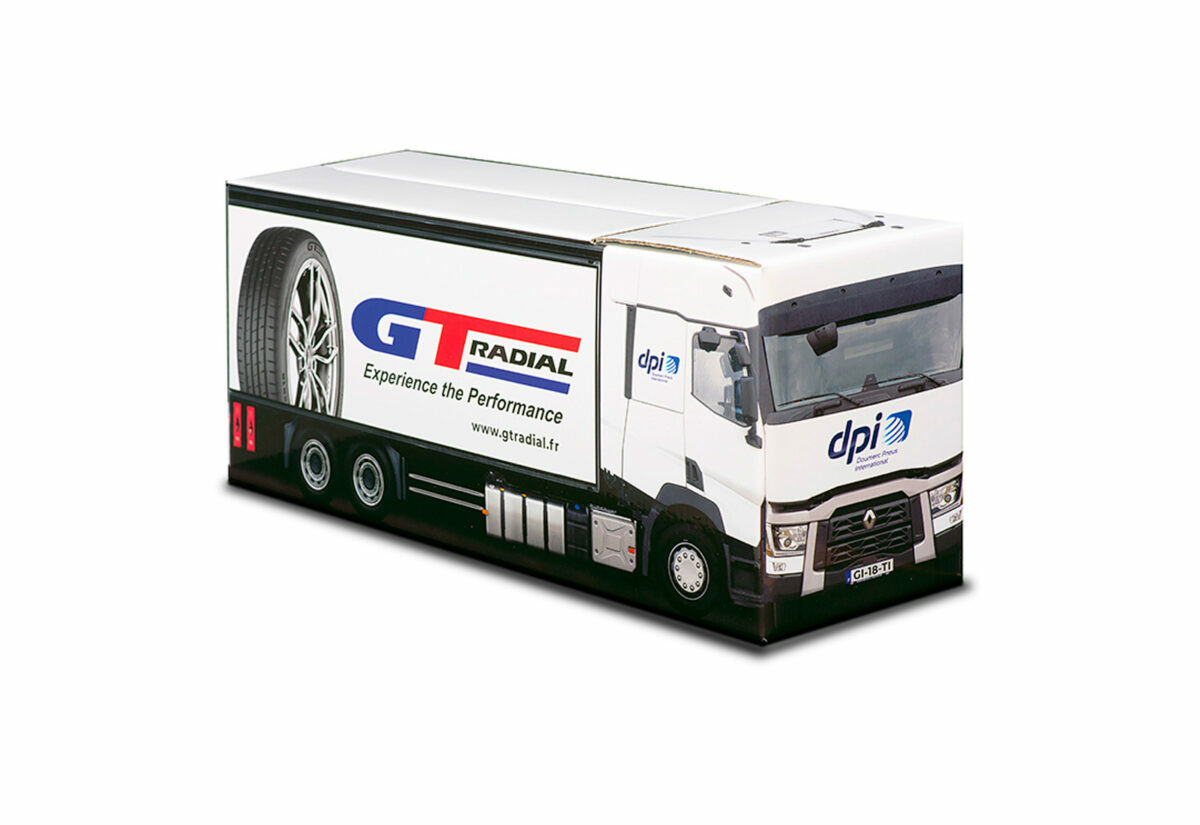 Truckbox Promotional Giftbox Truck superstructure, Renault, DPI