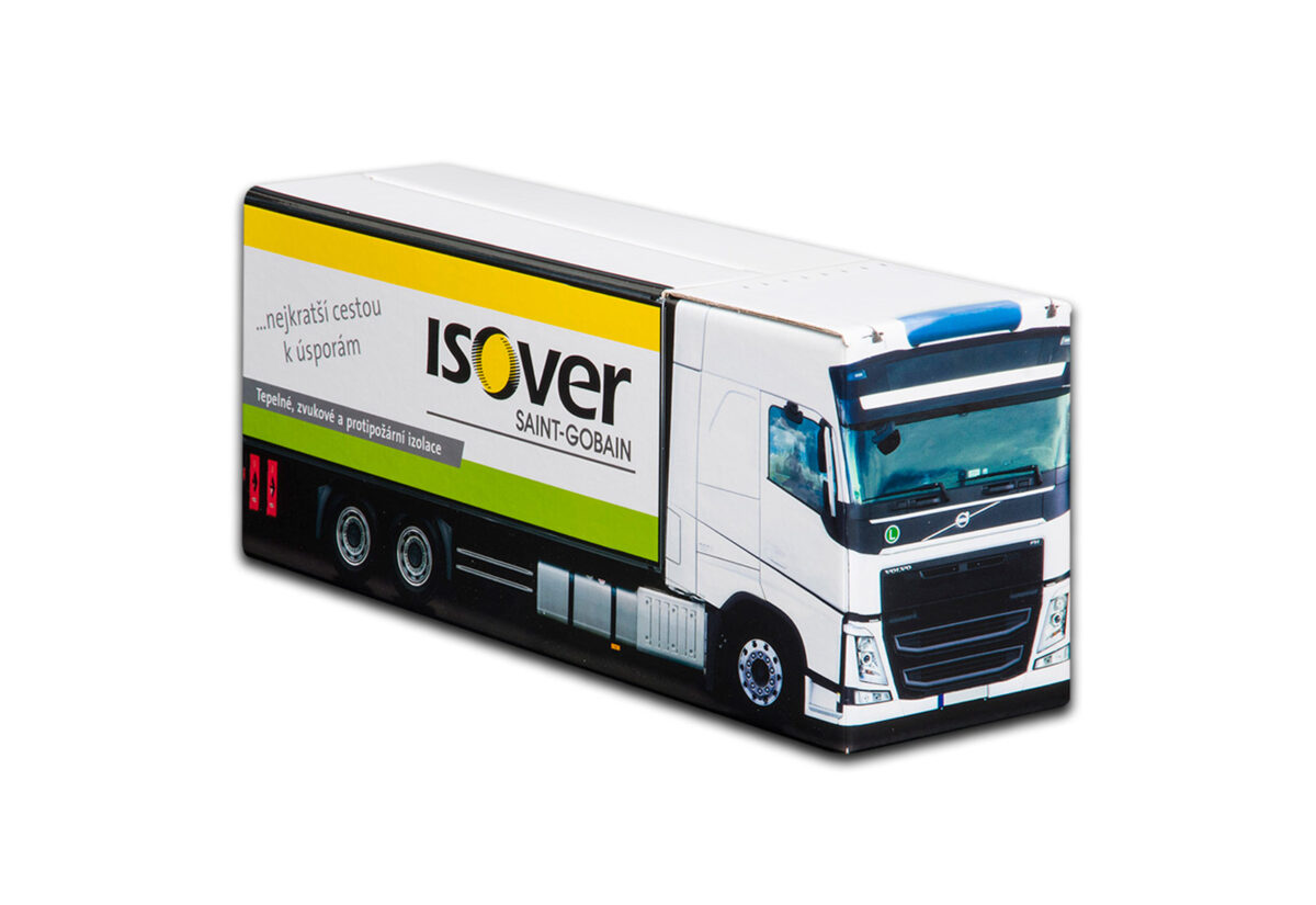 Truckbox Promotional Giftbox Truck superstructure, Volvo, ISOVER Saint-Gobain
