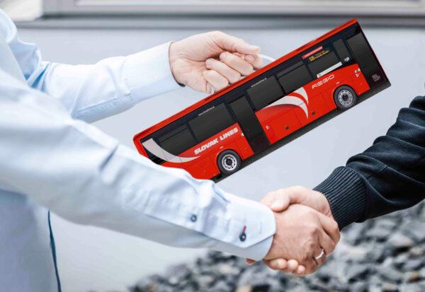 Truckbox Promotional Giftbox Bus Iveco Crossway Slovak Lines