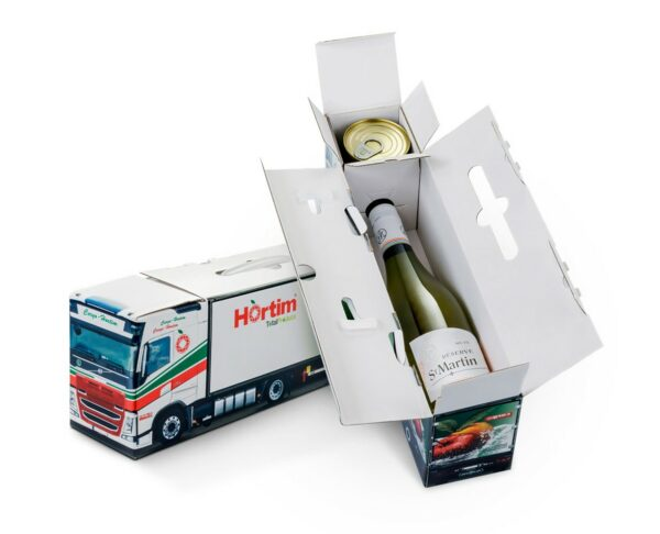 Truckbox Promotional Giftbox Truck wine bottle