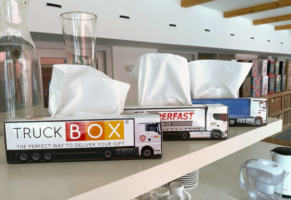Truckbox Promotional Tissue box